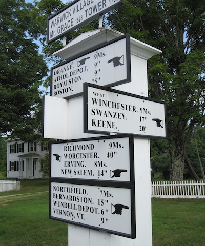 North Quabbin Region Signpost, Warwick, Massachusetts