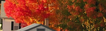 Athol, Massachusetts, home in autumn