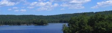 Tully Lake in the North Quabbin Region of Massachusetts